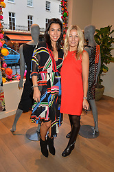 Left to right, STEPHANIE ALAMEIDA and CAROLINE FLEMING at the Salt Store VIP Shopping event at 77 Eliabeth Street, London on 2nd December 2015.