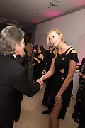 LEON MAX; KARLIE KLOSS, Vogue100 A Century of Style. Hosted by Alexandra Shulman and Leon Max. National Portrait Gallery. London. WC2. 9 February 2016.