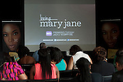 "Guests wait for a screening of BET's ""Being Mary Jane"" at the W Hotel in Dallas, Texas on June 22, 2013."