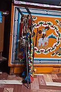 Mongolia. Ulaanbaatar. shamanic tools in the yurt of  Mme Tserendolgor,  master shaman  . Ulaan baatar