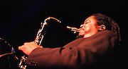 Courtney Pine.<br /> Jazz musician.<br /> The DRUM Cultural Centre, Birmingham, February 2004