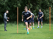 Dundee&rsquo;s Lewis Spence during the warm up - Dundee FC pre-season training at Michelin Grounds, Dundee, Photo: David Young<br /> <br />  - &copy; David Young - www.davidyoungphoto.co.uk - email: davidyoungphoto@gmail.com