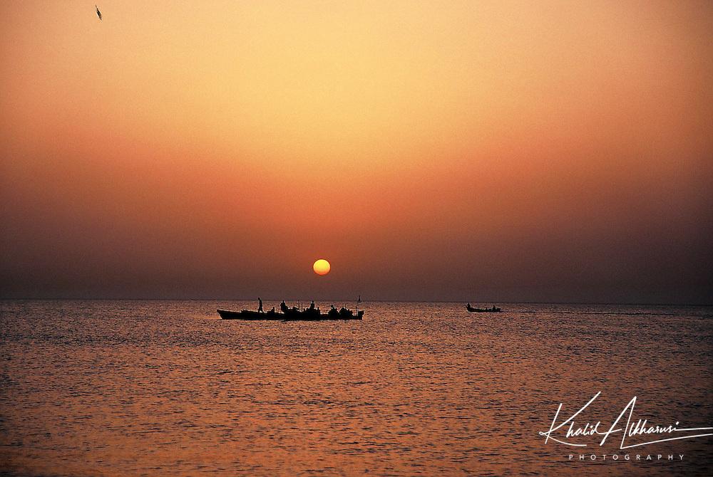 Sunset in Qurum beach,Oman