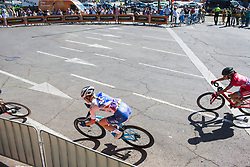 Rozanne Slik (NED) of FDJ Nouvelle Aquitaine Futuroscope Team leans into a corner on Stage 2 of the Madrid Challenge - a 100.3 km road race, starting and finishing in Madrid on September 16, 2018, in Spain. (Photo by Balint Hamvas/Velofocus.com)