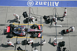 SHANGHAI, CHINA - Saturday, April 18, 2009: Heikki Kovalainen (FIN, Vodafone McLaren Mercedes) and his pit team during qualifying for the Formula One Grand Prix of China at the Shanghai International Circuit. (Pic by Michael Kunkel/Hoch Zwei/Propaganda)