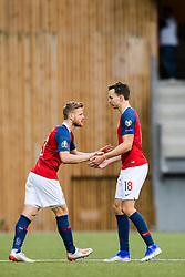 June 10, 2019 - Torshavn, FAROE ISLANDS - 190610 Fredrik Midtsjø and Ole Kristian Selnæs of Norway during the UEFA Euro Qualifier football match between Faroe Islands and Norway on June 10, 2019 in Torshavn..Photo: Vegard Wivestad Grøtt / BILDBYRÃ…N / kod VG / 170360 (Credit Image: © Vegard Wivestad GrØTt/Bildbyran via ZUMA Press)