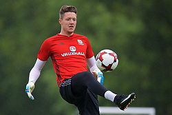 CARDIFF, WALES - Saturday, June 10, 2017: Wales' goalkeeper Wayne Hennessey during a training session at the Vale Resort ahead of the 2018 FIFA World Cup Qualifying Group D match against Serbia. (Pic by David Rawcliffe/Propaganda)