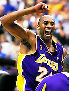 Kobe Bryant celebrates LA Lakers win over the Orlando Magic in the 2009 NBA Finals.