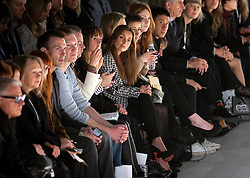 © Licensed to London News Pictures. 17/02/2012. London, UK. Louise Redknapp (centre) at the Corrie Nielsen catwalk show by designer Corrie Nielsen for Autumn/Winter 2012 collection at Courtyard Show Space at London Fashion Week 2012. Photo credit : Ben Cawthra/LNP