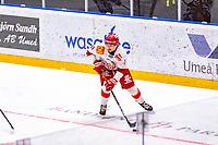 2020-01-19 | Umeå, Sweden: Vallentuna (11) Marcus Abrahamsson in AllEttan during the game  between Teg and Vallentuna at A3 Arena ( Photo by: Michael Lundström | Swe Press Photo )<br /> <br /> Keywords: Umeå, Hockey, AllEttan, A3 Arena, Teg, Vallentuna, mltv200119