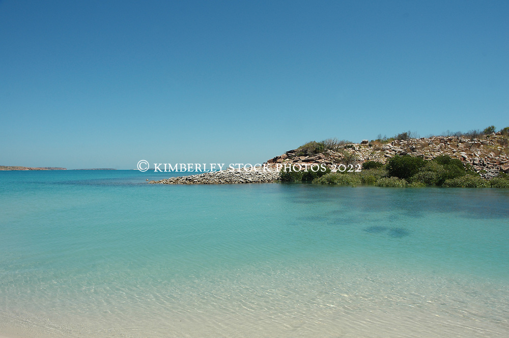 Clear water in Camden Sound on the Kimberley coast.