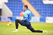 Hartlepool goalkeeper Joe Fryer warms up during the EFL Sky Bet League 2 match between Colchester United and Hartlepool United at the Weston Homes Community Stadium, Colchester, England on 25 February 2017. Photo by Ian  Muir.*