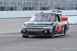 June 22, 2018 - Madison, Illinois, U.S. - MADISON, IL - JUNE 22:  Mike Harmon (74) driving a Chevrolet warms up before  the Camping World Truck Series - Eaton 200 on June 22, 2018, at Gateway Motorsports Park, Madison, IL.   (Photo by Keith Gillett/Icon Sportswire) (Credit Image: © Keith Gillett/Icon SMI via ZUMA Press)