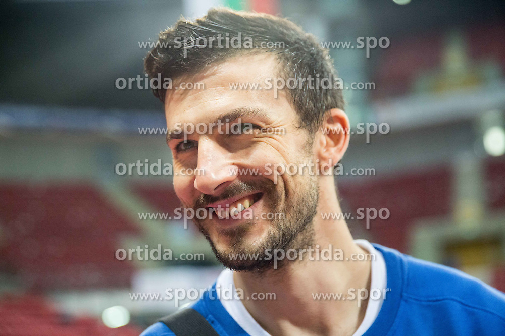 Mitja Gasparini #6 of Slovenia during practice session of Slovenian team in the morning of Final day of  2015 CEV Volleyball European Championship - Men, on October 18, 2015 in Arena Armeec, Sofia, Bulgaria. Photo by Vid Ponikvar / Sportida