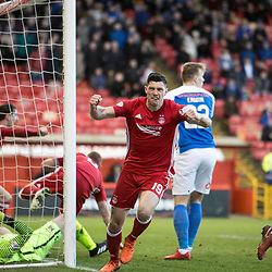 Aberdeen v Kilmarnock, Scottish Premiership, 27th January 2018<br /> <br /> Aberdeen v Kilmarnock, Scottish Premiership, 27th January 2018 &copy; Scott Cameron Baxter | SportPix.org.uk<br /> <br /> Aberdeen 19 Scott McKenna heads past Kilmarnock keeper within 2min of the 2nd half starting. 1-1.