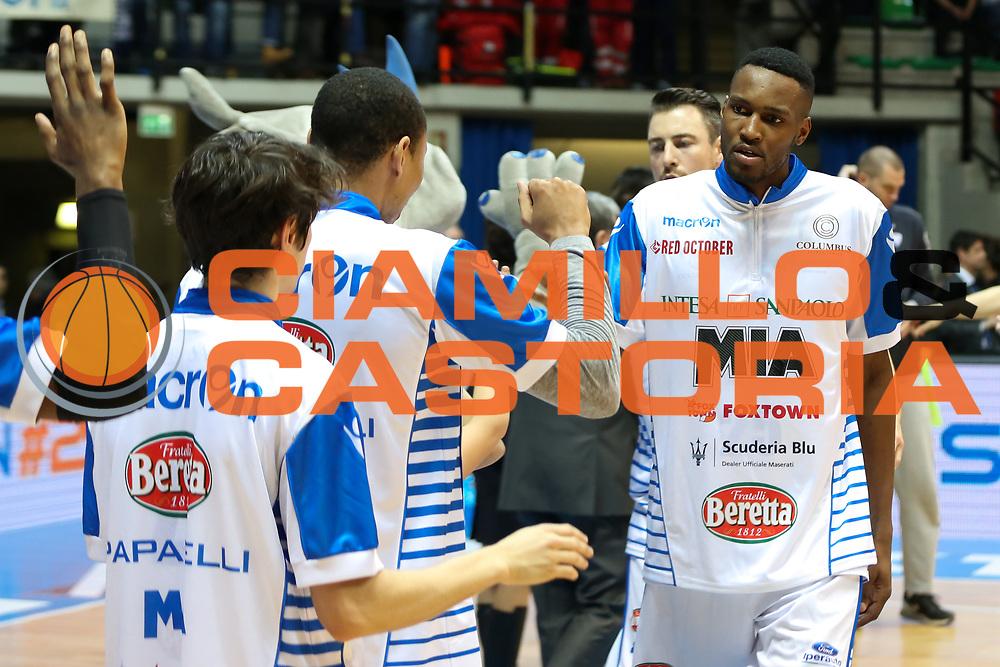 Johnson JaJuan, Mia Cantù vs Grissin Bon Reggio Emilia LBA serie A 6^ giornata di ritorno stagione 2016/2017 PalaDesio 06/03/2017