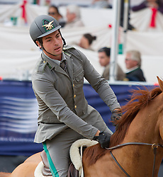 23.09.2012, Rathausplatz, Wien, AUT, Global Champions Tour, Vienna Masters, Grosser Preis, im Bild Emanuele Gaudiano (ITA) auf Chicago// during Vienna Masters of Global Champions Tour, Grand Prix at the Rathausplatz, Vienna, Austria on 2012/09/23. EXPA Pictures © 2012, PhotoCredit: EXPA/ Sebastian Pucher