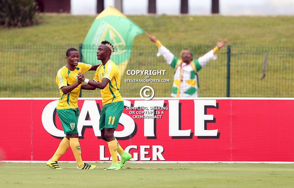 Kudakwashe Mahachi of Golden Arrows during the 2017 Nedbank Cup match between Golden Arrows and Maritzburg Utd held at the Princess Magogo Stadium in Durban, South Africa on the 12th March 2017<br /> Photo by:   Steve Haag