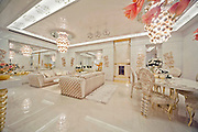 """Inside the Worlds Luxury Yacht  for WOMEN, with Swarovski Crystal chandeliers , gold mosaics ice fountains and a spa all a woman could want for Valentines day... for the rich of course!<br /> <br /> Luxury designer Lidia Bersani has created the first Luxury mega yacht for women in mind.<br /> <br /> The white and gold yacht measuring 262ft, is for women buyers and is designed using crystal, gold fur and flowers, named LA BELLE, which means  """"the beauty""""<br /> <br /> the yacht can sleep 12 guests in six luxury cabins, the spa area with hydromassage pool, harman, infrared sauce, snow room and ice fountains, fitness club ,beauty centre , nightclub, cinema and bars.<br /> <br /> """"the Idea is to equip the super yacht with ultra modern stabilizing system and state of the art machinery and equipment"""" says Lidia Bersani of Luxury design.<br /> <br /> Each deck has an outside area for sun bathing , and looking out to sea.<br /> A helicopter pad sits on top of the yacht, all the luxury a woman could want...<br /> <br /> Photo shows; La Belle<br /> ©Luxury design/Exclusivepix Media"""
