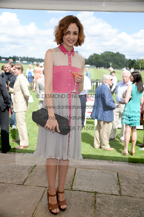 TUPPENCE MIDDLETON at the Audi International Polo at Guards Polo Windsor Great Park, Egham, Surrey on 28th July 2013.