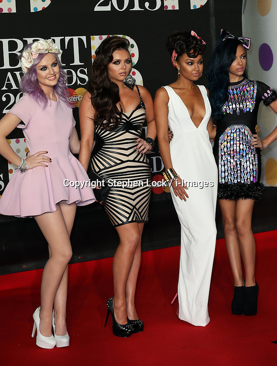 Little MIx arriving at the BRIT Awards in London, Wednesday,20th February 2013 Photo by: Stephen Lock / i-Images