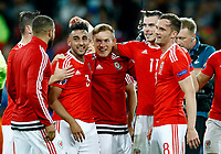 Wales players celebrating the victory. esultanza vittoria<br /> Lille 01-07-2016 Stade Pierre Mauroy Football Euro2016 Wales - Belgium / Galles - Belgio <br /> Quarter-finals. Foto Matteo Ciambelli / Insidefoto