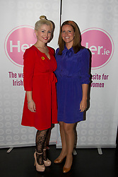 No fee for Repro: 5/06/2012. Lou Conlon and Sarah Williams pictured at the launch of Her.ie, an exciting new website aimed at Irish women. Pic Andres Poveda