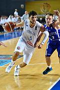 DESCRIZIONE : Tbilisi Nazionale Italia Uomini Tbilisi City Hall Cup Italia Italy Estonia Estonia<br /> GIOCATORE : Alessandro Gentile<br /> CATEGORIA : palleggio penetrazione sequenza<br /> SQUADRA : Italia Italy<br /> EVENTO : Tbilisi City Hall Cup<br /> GARA : Italia Italy Estonia Estonia<br /> DATA : 15/08/2015<br /> SPORT : Pallacanestro<br /> AUTORE : Agenzia Ciamillo-Castoria/GiulioCiamillo<br /> Galleria : FIP Nazionali 2015<br /> Fotonotizia : Tbilisi Nazionale Italia Uomini Tbilisi City Hall Cup Italia Italy Estonia Estonia