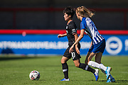 Ji So-Yun (Chelsea) & Ellie Brazil (Brighton) during the FA Women's Super League match between Brighton and Hove Albion Women and Chelsea at The People's Pension Stadium, Crawley, England on 15 September 2019.