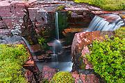 Triple Falls, Glacier National Park, Montana USA