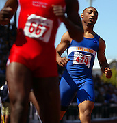 05/23/2009 - Jefferson's Marlon Miles (479) gives a fine effort during the 5A Boy's 100 Meter Dash. The 2009 OSAA/U.S. Bank/Les Schwab Tires 6A-5A-4A Track and Field State Championships were run at Hayward Field in Eugene, Oregon.....KEYWORDS:  City, Portland, sports, Oregon, high school, OSAA, boys, girls, PIL, run, University, team