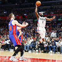 07 November 2016: Los Angeles Clippers guard Raymond Felton (2) goes for the jump shot during the LA Clippers 114-82 victory over the Detroit Pistons, at the Staples Center, Los Angeles, California, USA.