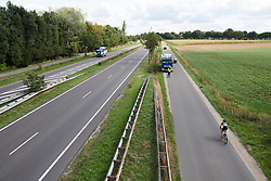 Omer Shapira (ISR) on a long day out solo at Boels Ladies Tour 2018 - Stage 4, a 124.3km road race from Stramproy to Weert, Netherlands on August 31, 2018. Photo by Sean Robinson/velofocus.com