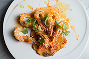 Roasted maya prawns at the Spoon Bar and Kitchen on Friday, February 15, 2013 in Dallas, Texas. (Cooper Neill/The Dallas Morning News)