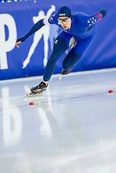 11-12-2016 NED: ISU World Cup Speed Skating, Heerenveen<br /> Jonathan Garcia USA op de 1000 m