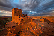 At Wupatki National Monument in northern Arizona is Wukoki Pueblo, the ruins of a dwelling once occupied by the Sinagua people and first inhabited sometime around 500 AD.