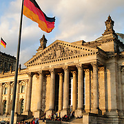 Germany's Reichstag building in the late afternoon sun