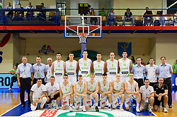 Team Slovenia during basketball match between National team of Slovenia and Italy in First Round of U20 Men European Championship Slovenia 2012, on July 12, 2012 in Domzale, Slovenia.  (Photo by Vid Ponikvar / Sportida.com)