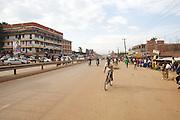 A street scene in Kampala, Uganda.