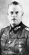 Wilhelm Keitel (1882-1946) German Field Marshal and Supreme Commander of the Armed Forces. Signed German Army surrender, Berlin 8-9 May 1945.  Found guilty of war crimes at Nuremberg, sentenced to death and hanged.