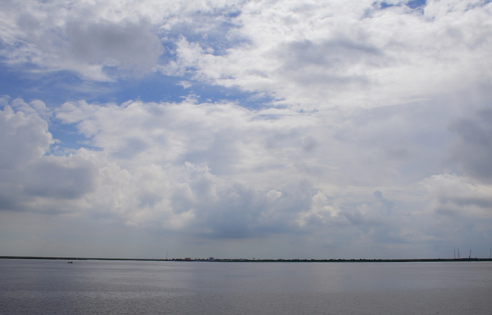 Louisiana From Port Arthur, Across Sabine Lake