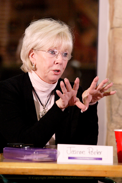 Jeanne Porter of Women in Business Networking during the Women in Business Networking 'Hot Topics' Koffee Talk at the Dorothy Lane Market in Springboro, Friday, March 4, 2011.