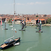 America's Cup  World Series -  A general view from one of the towers of Arsenale
