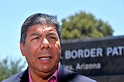 José Joaquín Chacón, consul general of El Salvador in Arizona, met with U.S. officials and other consul generals from Central American at the U.S. Border Patrol Nogales Station about the 751 unaccomanied minor children who crossed illegally in to Texas, were apprehended and are now being held in detention at this Arizona facility.  The youths were transferred from Texas to Arizona because of the lack of space to care for the youths due to the overwelming numbers of children entering the U.S. in Texas without documentation.