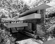 """Fallingwater or Kaufmann Residence is a house designed by architect Frank Lloyd Wright in 1935 in rural southwestern Pennsylvania, 43 miles (69 km) southeast of Pittsburgh. The home was built partly over a waterfall on Bear Run in the Mill Run section of Stewart Township, Fayette County, Pennsylvania, in the Laurel Highlands of the Allegheny Mountains. <br /> <br /> Time cited it after its completion as Wright's """"most beautiful job""""; it is listed among Smithsonian's Life List of 28 places """"to visit before you die."""" It was designated a National Historic Landmark in 1966. In 1991, members of the American Institute of Architects named the house the """"best all-time work of American architecture"""" and in 2007, it was ranked twenty-ninth on the list of America's Favorite Architecture according to the AIA."""