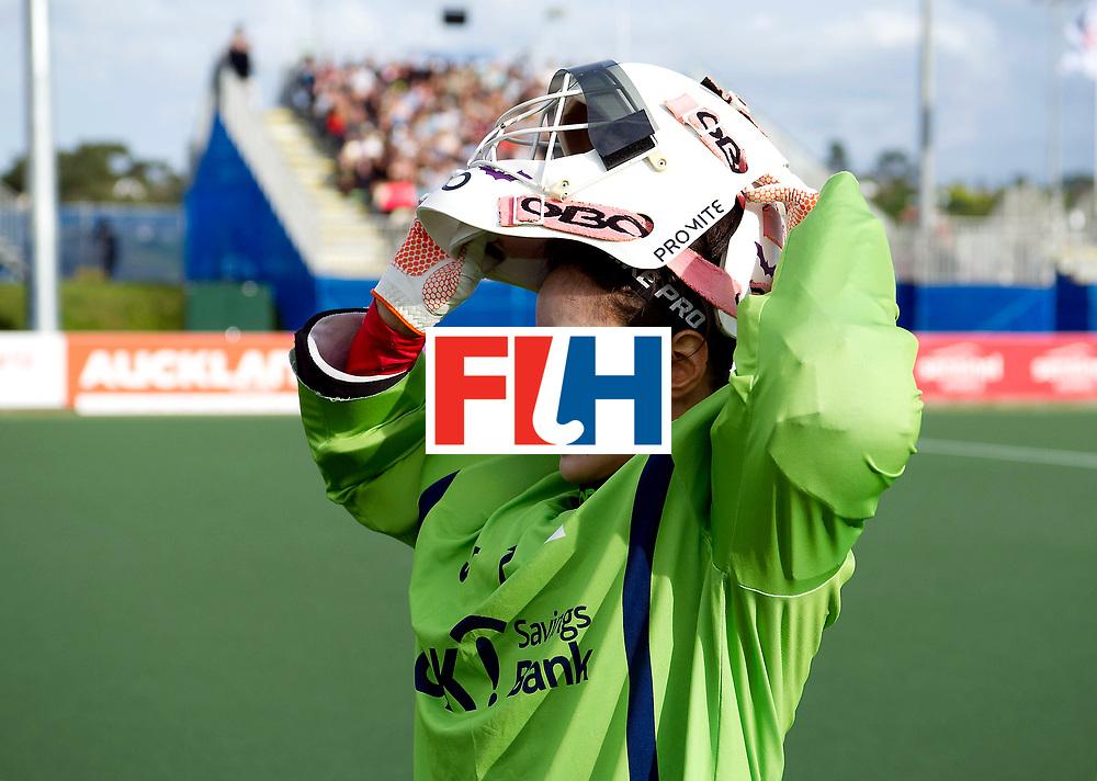 AUCKLAND - Sentinel Hockey World League final women<br /> Match id 10291<br /> USA v KOR (Pool A)<br /> Foto:  Soo Ji Jang(Gk) <br /> WORLDSPORTPICS COPYRIGHT FRANK UIJLENBROEK