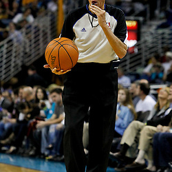 February 2, 2012; New Orleans, LA, USA; referee Dick Bavetta (27) during a game between the New Orleans Hornets and the Phoenix Suns at the New Orleans Arena. The Suns defeated the Hornets 120-103.  Mandatory Credit: Derick E. Hingle-US PRESSWIRE