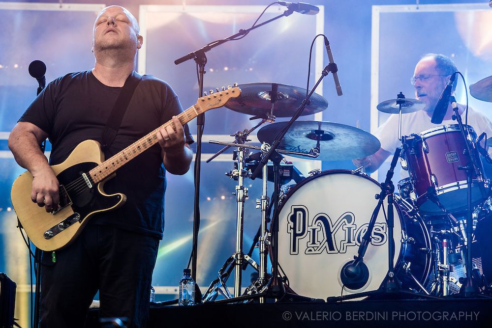 Black Francis, frontman of Pixies close Field Day festival in London Victoria Park on 8 June 2014
