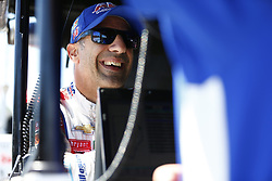 June 23, 2018 - Elkhart Lake, Wisconsin, United States of America - TONY KANAAN (14) of Brazil hangs out on pit road prior to taking to the track to practice for the KOHLER Grand Prix at Road America in Elkhart Lake, Wisconsin. (Credit Image: © Justin R. Noe Asp Inc/ASP via ZUMA Wire)