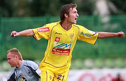 Armin Bacinovic (21) of Maribor celebrates first goal at 9th round of Slovenian Football First League  between NK Interblock vs NK Maribor, on September 20, 2008, in ZAK stadium in Ljubljana. Maribor won the match 2:1. (Photo by Vid Ponikvar / Sportida)